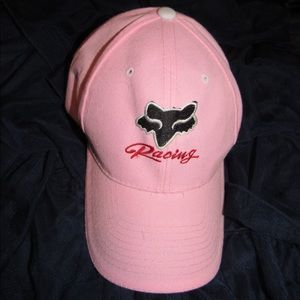 Fox Velcro Back Hat, Pink